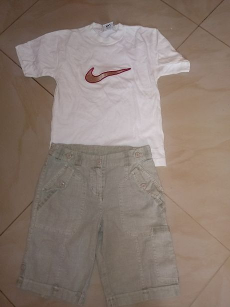 Bluzka Nike rybaczki lniane