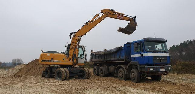 Prace ziemne wyburzenia transport materiałów sypkich usługi koparką