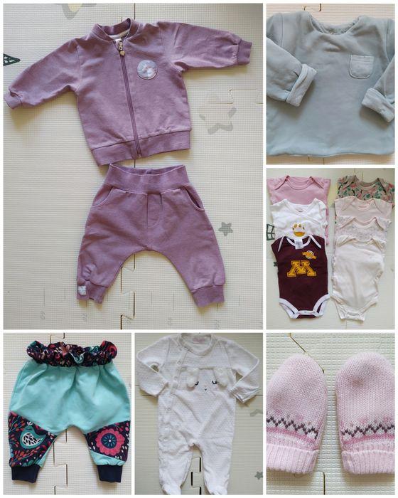 Zestaw ubranek niemowlęcych, ubranka dla dziewczynki r. 68 Warszawa - image 1
