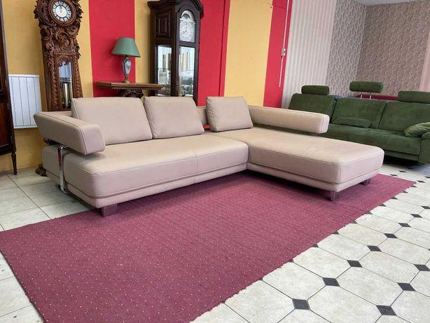 Новый кожаный угловой диван фирмы Hukla шкіряний  кутовий диван