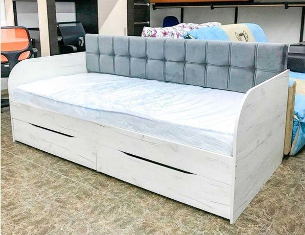 """Кровать """"Л-7""""  детская с мягкой спинкой. Акция!!!"""