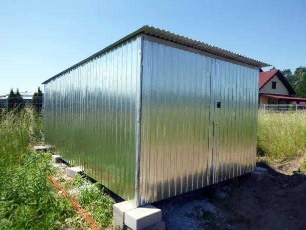 Garaż blaszany Schowek Blaszak na budowę Garaże Blaszaki od PRODUCENTA