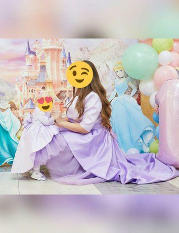 Family Look мама дочка нарядные платья для фотосессии платья на годик