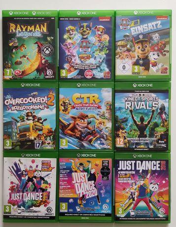 Gry Xbox one Psi patrol CTR crash Just dance Rayman Rivals