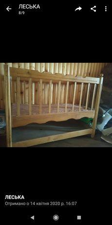 Ліжечко дерев'яне дуб ліжко дитяче