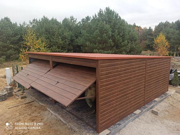 Garaż blaszany blaszak drewnopodobny 6 x 5