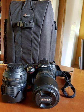 Nikon D90 niski przebieg 18-105 VR + 55-300 DX