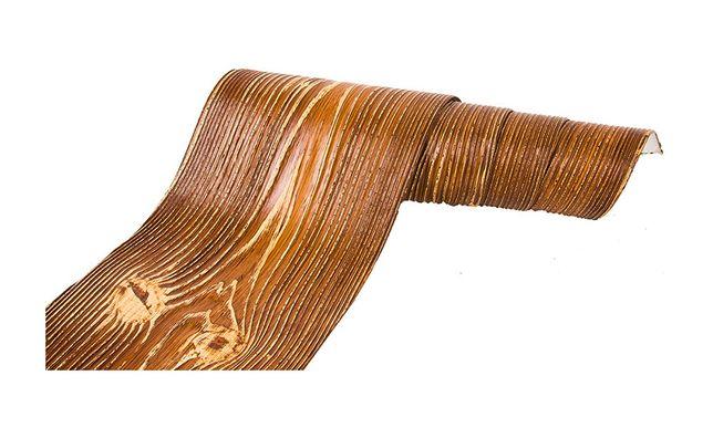 Deska elewacyjna elastyczna, imitacja drewna, pełny system złoty dąb