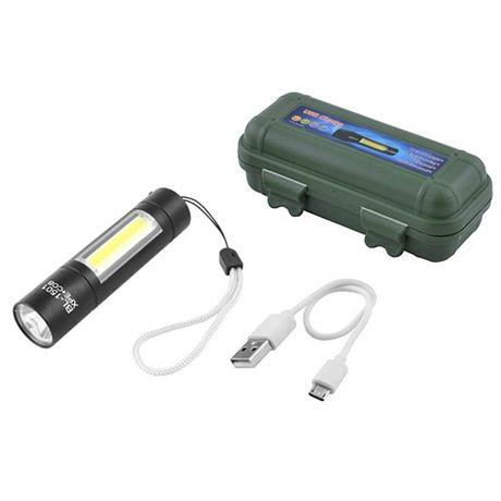 Фонарь ручной Police 510 XPE+COB, ЗУ mirco USB, встроенный аккумулятор
