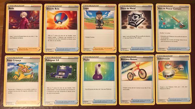 Cartas Pokémon Espada e escudo