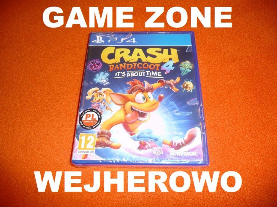 CRASH Bandicoot 4 Najwyższy Czas PS4 + Slim + Pro = PŁYTA PL Wejherowo Wejherowo - image 1