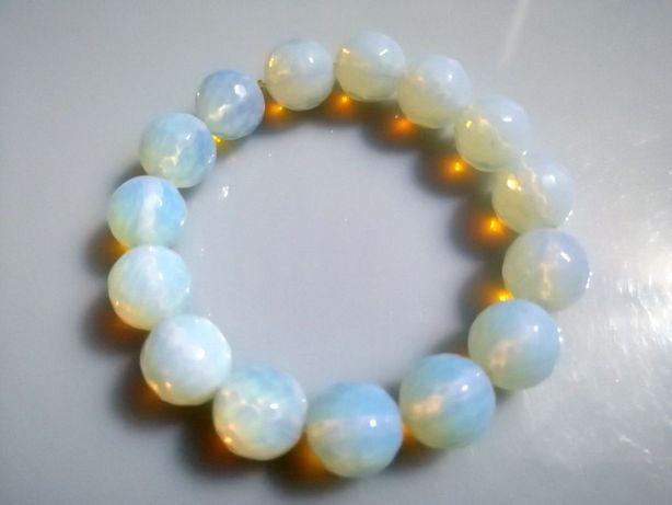 Bransoletka naturalny kamień Opal szlifowany