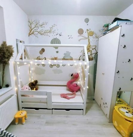 Акция кровать домик сделана в Карпатах из Смереки Карпатской деткам