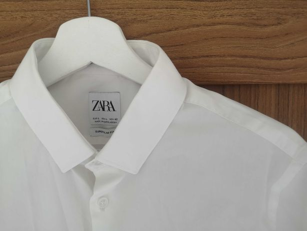 Biała koszula Zara L M 40 38 długi rękaw