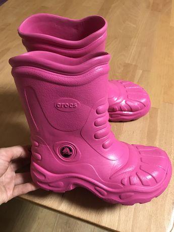 Резиновые ботинки сапоги кроксы crocs m3w5/35 p