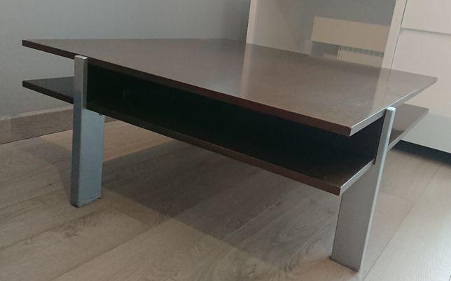 Elegancki duński stolik 90x90 cm Wenge