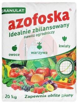Azofoska granulat 20 kg nawóz uniwersalny warzywa owoce drzewa kwiaty