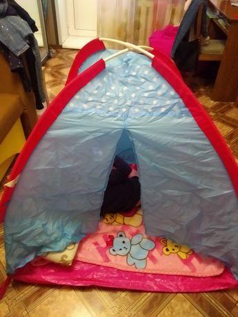 Детскаяя палатка с тоннелем для девочки.