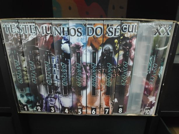 Círculo de Leitores Coleção VHS de Testemunhos do Século XX Novo!