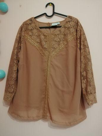 Elgancka bluzka koronkowa XL