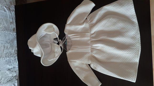 Sukienka do chrztu plus buciki