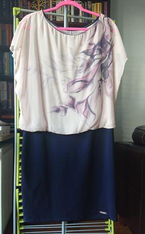 Sukienka letnia krótka koktajlowa mini nietoperz L/XL