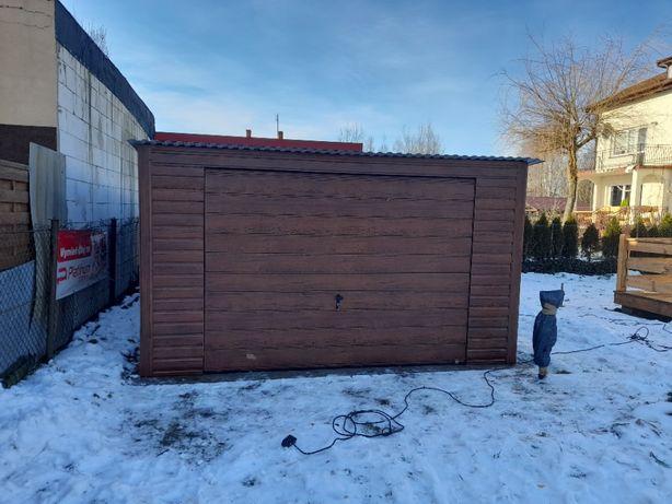 Garaż blaszany 4x6, producent, schowki,schowek na budowę