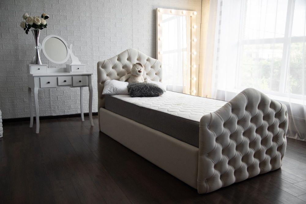 Детская кровать мягкая с каретной стяжкой Подростковая кровать Тячев - изображение 1
