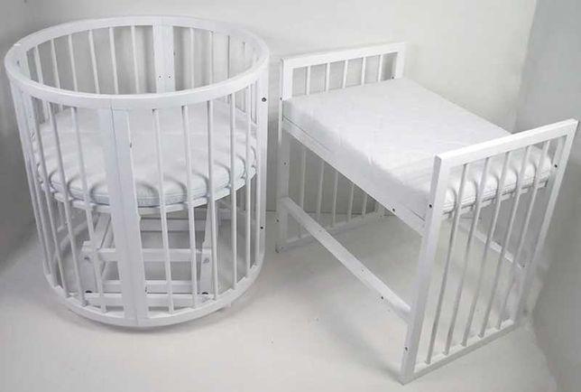 Нові дитячі ліжка із маятником та шухлядою. Круглі ліжка 9 в 1