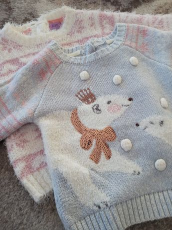 Zestaw dwóch sweterków rozmiar 80 f&f