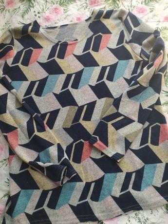 Sweterek w geometryczny wzór r. XL
