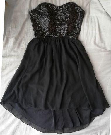 Cubus czarna sukienka, cekiny rozm 34 XS