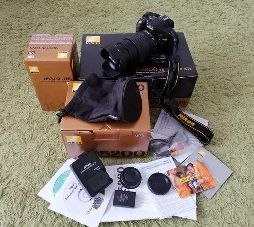Aparat fotograficzny Nikon D5200 + 18-105mm jak nowy, Zobacz