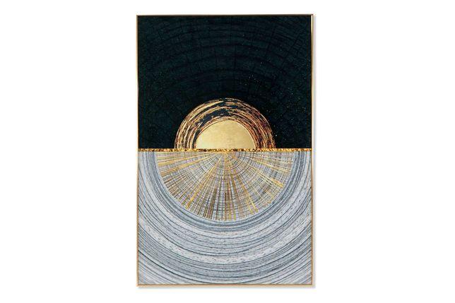 Quadro com Moldura Dourado branco e preto 80x120cm By Arcoazul
