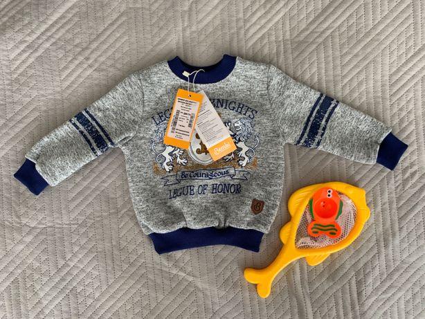 Джемпер кофта Bembi Бемби на флисе 74 размер 7 месяцев