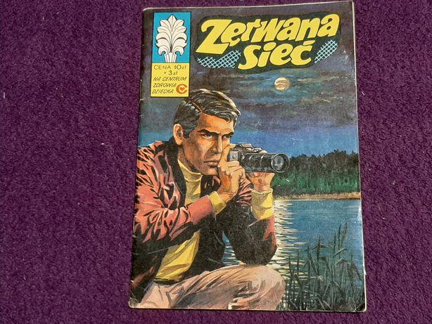 """Komiks Kapitan Żbik """"Zerwana sieć"""" wyd. I 1977 r."""