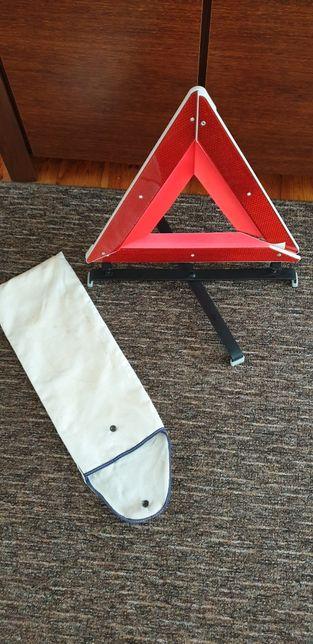 Trójkąt ostrzegawczy solidny duzy 50cm z solidną podstawa