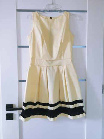 Rozmiar S cytrynowa sukienka