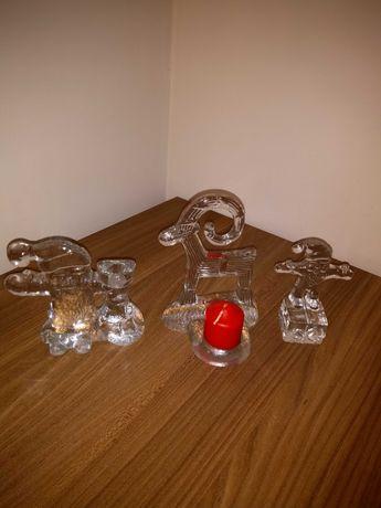 Szklane figurki świąteczne