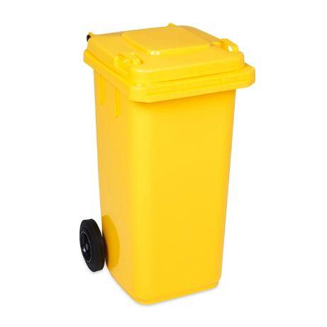 POJEMNIK na odpady plastikowe KOSZ na śmieci 240L Śmietnik ŻÓŁTY
