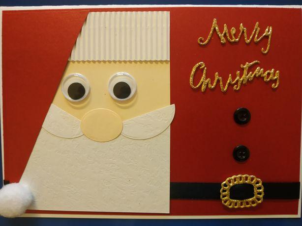 Kartka A5 ręcznie robiona świąteczna