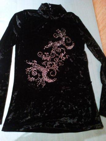bluza, tunika, bluzka- welur z aplikacją od 152 do 164 cm