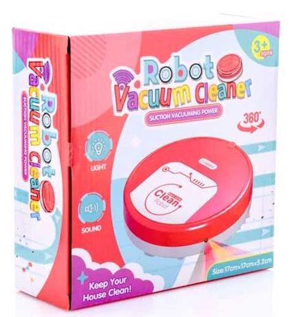 Робот пылесос звук свет ездит детский игрушечный