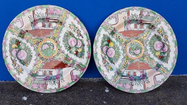 Pratos decorativos loiça chinesas