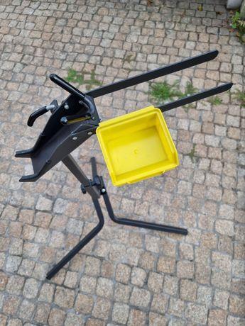 Suporte para manutenção de bicicleta em bom estado