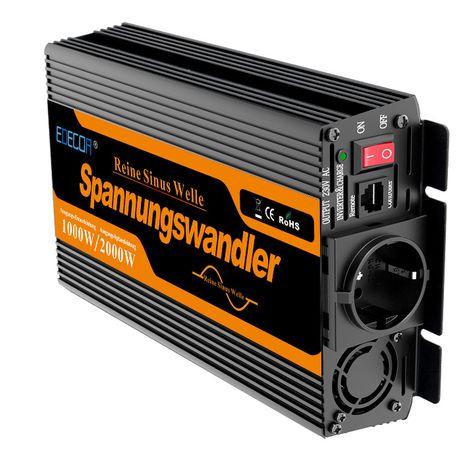 Conversor INVERTER de ONDA PURA - 1000 WATT a 2000 WATT 12VDC 230VAC