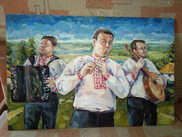 Картина ручная работа, холст на картоне 40х60