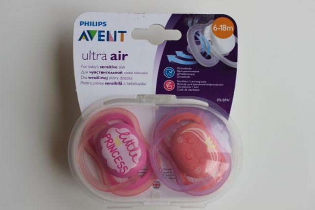 Пустышка Philips AVENT Ultra Air 6-18 мес. 2 шт.