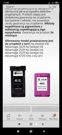 Tusz kolor i czarny do drukarki