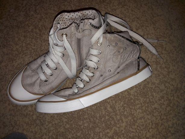 Geox damskie błyszczące buty r.35